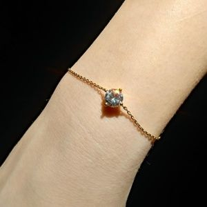Jewelry - 14K Gold Plated Diamond Bracelet